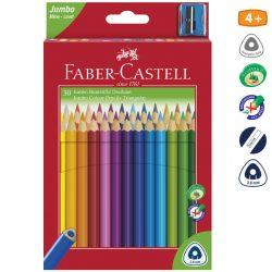 FABER CASTELL JUMBO háromszögletű színesceruza 30db