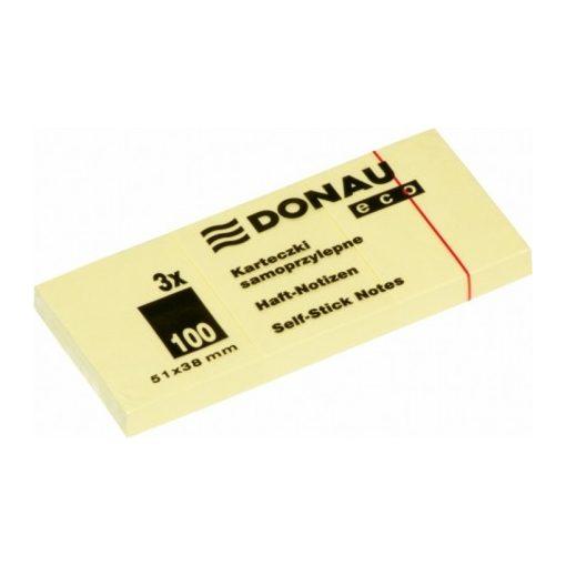 DONAU ECO öntapadós jegyzettömb 38x51mm 3db/cs