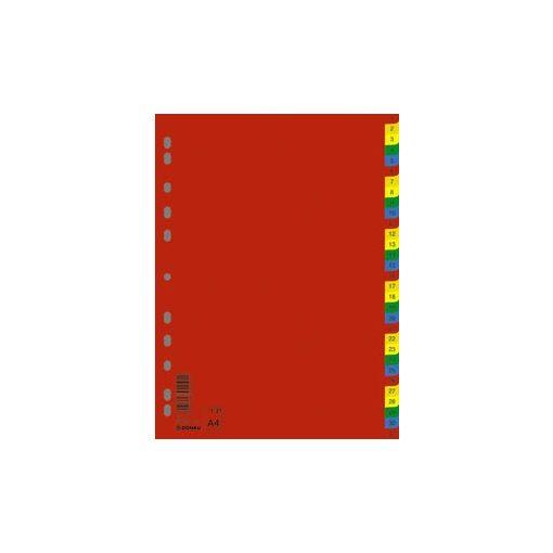 DONAU színes műanyag regiszter 1-31