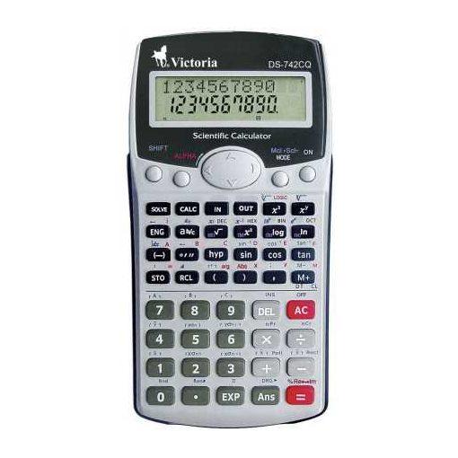 Számológép VICTORIA GVT-742CQ tudományos 283 funkció, 10+2 digit