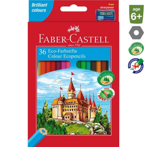 FABER CASTELL hatszögletű színesceruza 36db