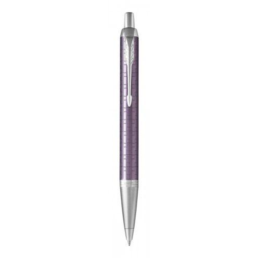PARKER Royal IM Premium golyóstoll cizellált lila, ezüst klipsz