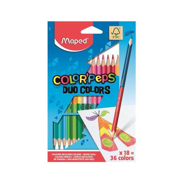 MAPED Color Pep's DUO színesceruza 12db (24szín)