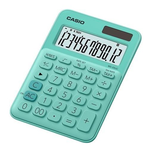 CASIO MS-20 UC asztali számológép 12 számjegy zöld