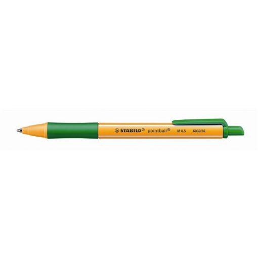 Golyóstoll Stabilo Pointball zöld 0,5mm