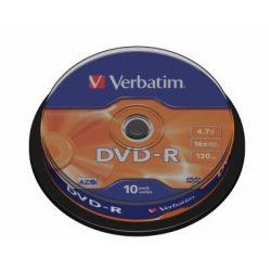 DVD-R írható VERBATIM 4,7GB 16x 10db hengeren