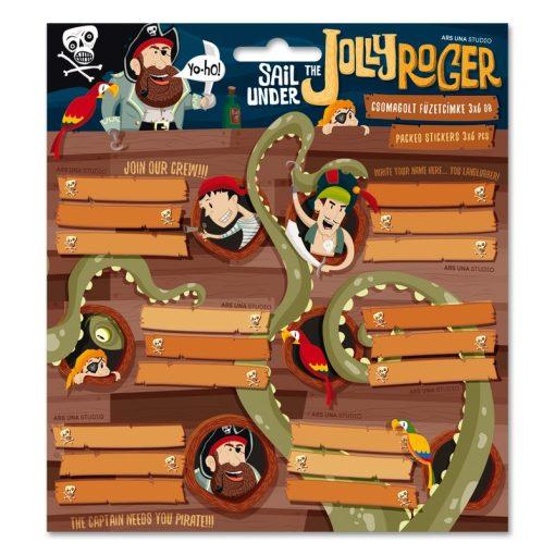ARS UNA füzetcímke csomagolt, 3x6db Jolly Roger, kalóz