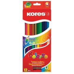KORES Duó színesceruza 12db (24szín)