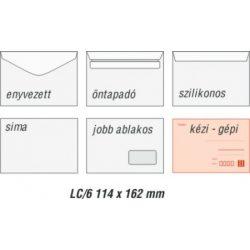 Boríték LA4 öntapadós fehér 110x220mm 100db/csom