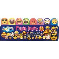 Jelölőcimke 15x50mm 8x15 lap/csomag, Emoji