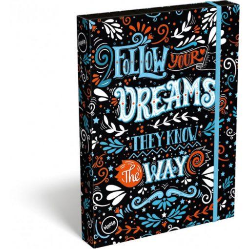 Lizzy Card füzetbox A/4 Follow Your dreams