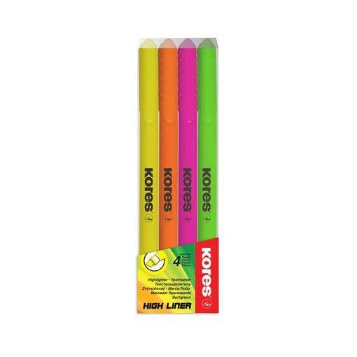 Szövegkiemelő készlet KORES, 0,5-5mm, 4db