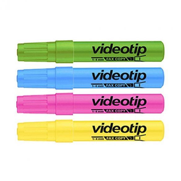 ICO szövegkiemelő Videotip 1-4mm, Fluor sárga