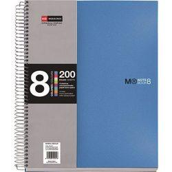 Spirálfüzet MIQUELRIUS 200 oldal, színregiszteres, 8 részes, A/4-es vonalas