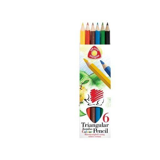 ICO Süni színesceruza 6db JUMBO, vastag, háromszögletű