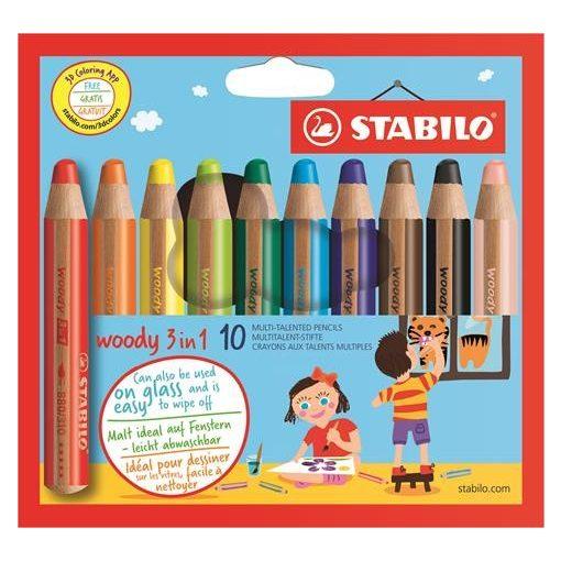 STABILO Woody 3 in 1 10db-os