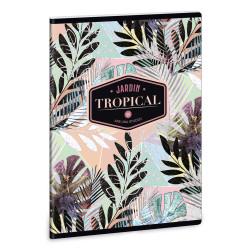 ARS UNA füzet A/4 40 lapos kockás, négyzethálós Tropical Leaf