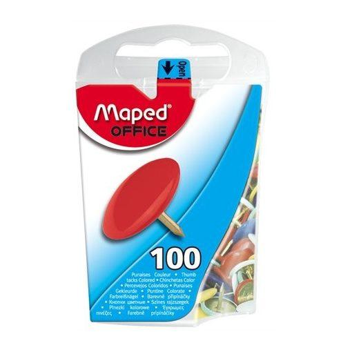 MAPED rajzszeg, rajzszög, színes, 100db
