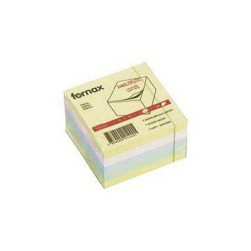 FORNAX öntapadós jegyzettömb 75x75mm 450lap vegyes szín, pasztell