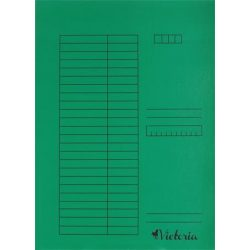 Papír gyorsfűző A/4 5db zöld