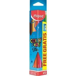 MAPED Color'Peps színesceruza 12db ajándék hegyezővel
