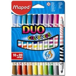 MAPED Color'Peps 10db duo kimosható filctoll (20 szín)