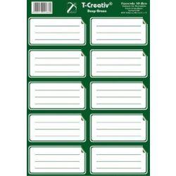 Füzetcímke egyszínű 10 címke/lap sötétzöld