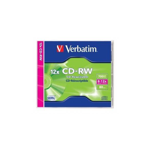 CD-RW újraírható VERBATIM 700MB, 80min, 8-10x