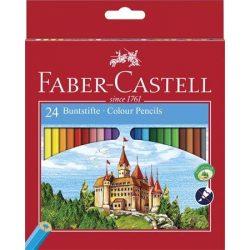 FABER CASTELL hatszögletű színesceruza 24db