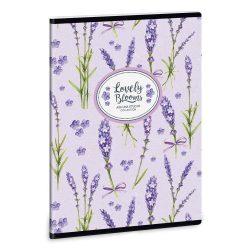 ARS UNA Lavender füzet A/5 40 lapos kockás, négyzethálós