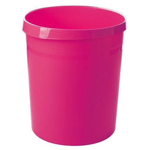 HAN papírkosár / szemétkosár 18literes pink, rózsaszín