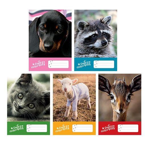 Füzet A/5 Cute Animals PD 20-32 sima
