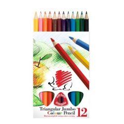 ICO Süni színesceruza 12db JUMBO, vastag, háromszögletű
