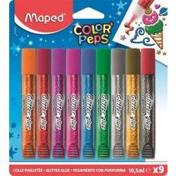 MAPED csillámos ragasztó, glitter 9db