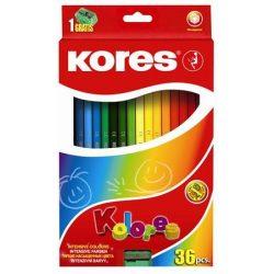 KORES színesceruza hatszögletű 36db