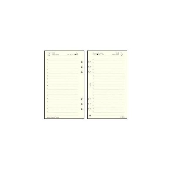 SATURNUS gyűrűskalendárium naptár betét (napi) L312 Chamois 2020. évi