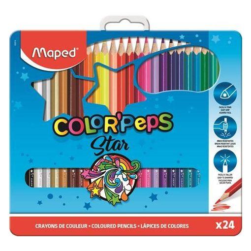 MAPED Color'Peps színesceruza 24db fémdobozban