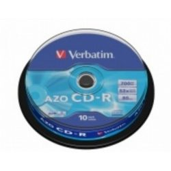 CD írható VERBATIM 700MB, 80min, 52x, 10db hengeren