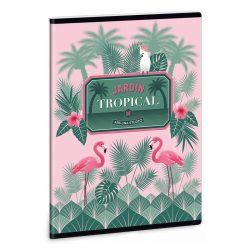ARS UNA Pink Flamingo extra füzet A/5 40 lapos sima 20-32