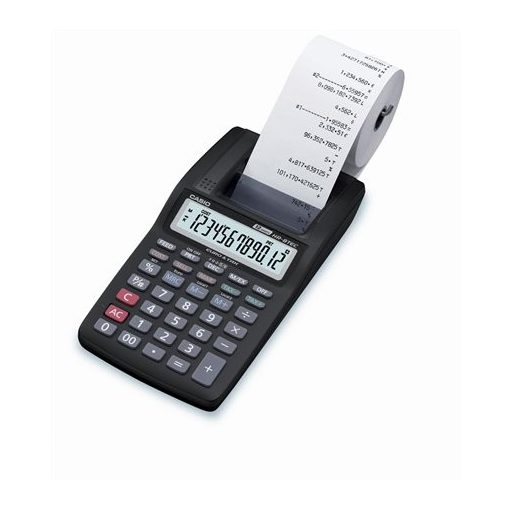 Számológép CASIO HR-8RCE szalagos 12 digit