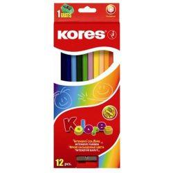 KORES színesceruza hatszögletű 12db