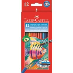 FABER CASTELL hatszögletű színesceruza 12db aquarell