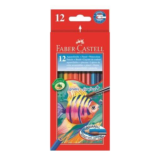 FABER-CASTELL hatszögletű színesceruza 12db aquarell