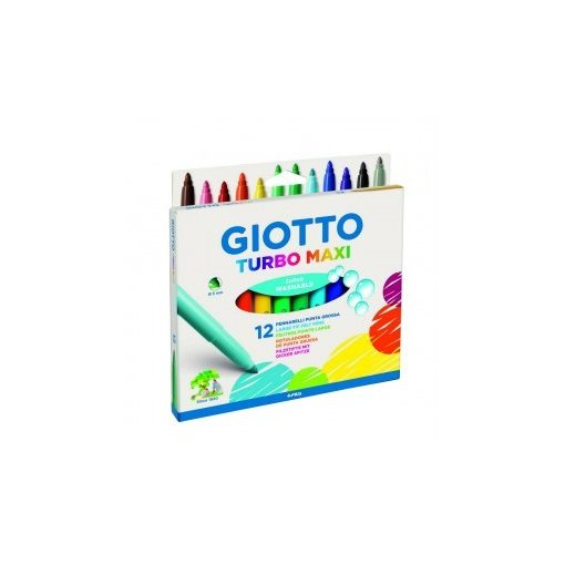 GIOTTO filckészlet 12db Turbo Color Maxi, jumbo