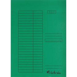 Papír pólyás dosszié A/4 5db zöld