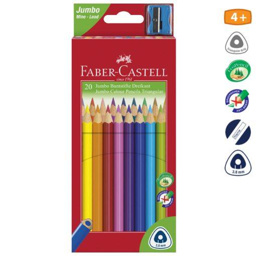 FABER-CASTELL JUMBO háromszögletű színesceruza 20db