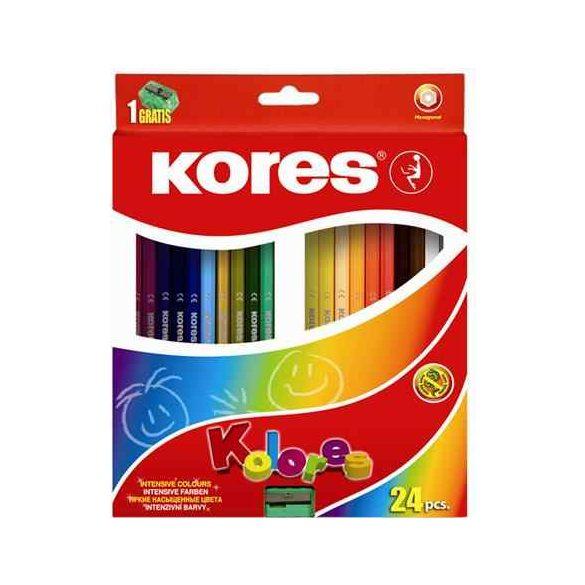 KORES színesceruza hatszögletű 24db