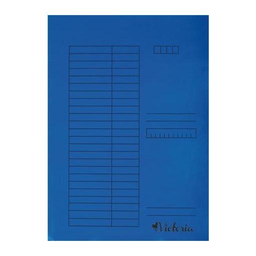 Papír gyorsfűző A/4 5db kék