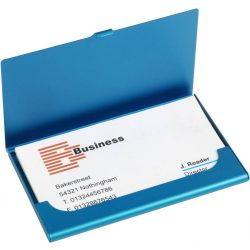 Alumínium névjegytartó, kék