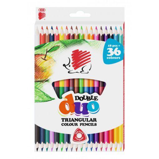ICO Süni színesceruza 18db duo
